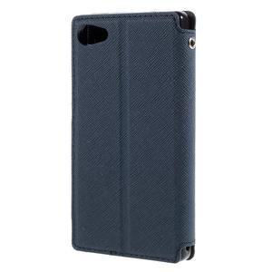 Pouzdro s okýnkem na Sony Xperia Z5 Compact - tmavěmodré - 2