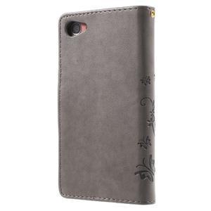 Butterfly peněženkové pouzdro na Sony Xperia Z5 Compact - šedé - 2