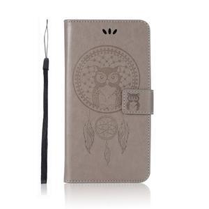 Dream PU kožené peněženkové pouzdro na Xiaomi Mi A2 Lite - šedé - 2