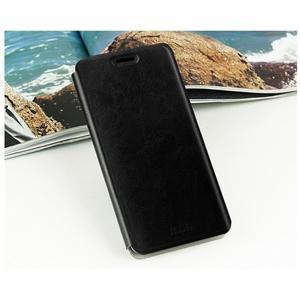 Černé PU kožené poudro na mobil Xiaomi Mi Note - 2