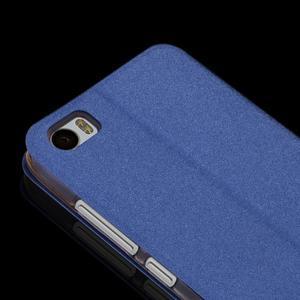 Klopové PU kožené pouzdro na Xiaomi Mi5 - modré - 2