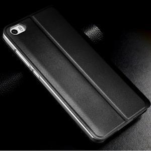 Vintage stylové PU kožené pouzdro na mobil Xiaomi Mi5 - černé - 2