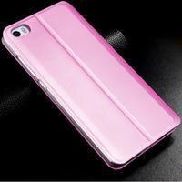 Vintage stylové PU kožené pouzdro na mobil Xiaomi Mi5 - růžové - 2/3