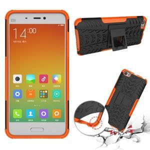 Odolný outdoor obal na mobil Xiaomi Mi5 - oranžový - 2