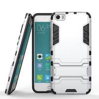 Hybridní odolný kryt na mobil Xiaomi Mi5 - stříbrný - 2/4