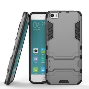 Hybridní odolný kryt na mobil Xiaomi Mi5 - šedý - 2