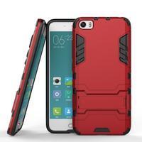 Hybridní odolný kryt na mobil Xiaomi Mi5 - červený - 2/4