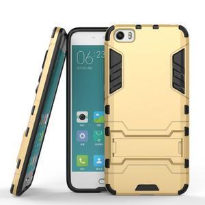 Hybridní odolný kryt na mobil Xiaomi Mi5 - zlatý - 2