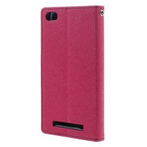 Diary PU kožené pouzdro na mobil Xiaomi Redmi 3 - rose - 2