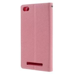 Diary PU kožené pouzdro na mobil Xiaomi Redmi 3 - růžové - 2