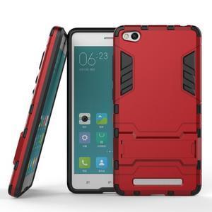 Hybridní gelový obal na Xiaomi Redmi 3 - červený - 2