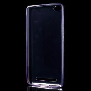 Ultratenký slim gelový obal na mobil Xiaomi Redmi 3 Pro - fialový - 2