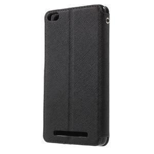 Diary view peněženkové pouzdro na Xiaomi Redmi 3 - černé - 2