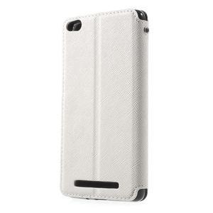 Diary view peněženkové pouzdro na Xiaomi Redmi 3 - bílé - 2