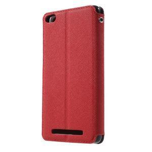Diary view peněženkové pouzdro na Xiaomi Redmi 3 - červené - 2