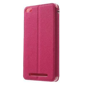 Diary view peněženkové pouzdro na Xiaomi Redmi 3 - rose - 2