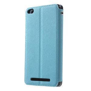 Diary view peněženkové pouzdro na Xiaomi Redmi 3 - světlemodré - 2