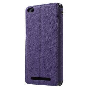 Diary view peněženkové pouzdro na Xiaomi Redmi 3 - fialové - 2