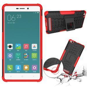 Outdoor odolný obal na mobil Xiaomi Redmi 3 - červený - 2