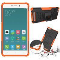 Outdoor odolný obal na mobil Xiaomi Redmi 3 Pro - oranžový - 2/2
