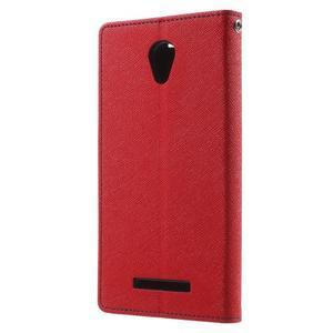 Goos PU kožené pouzdro na Xiaomi Redmi Note 2 - červené - 2