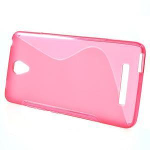 S-line gelový obal na mobil Xiaomi Redmi Note 2 - rose - 2