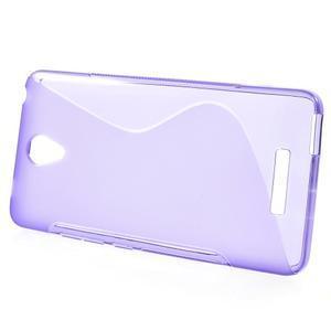 S-line gelový obal na mobil Xiaomi Redmi Note 2 - fialový - 2