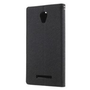 Goos PU kožené pouzdro na Xiaomi Redmi Note 2 - černé - 2