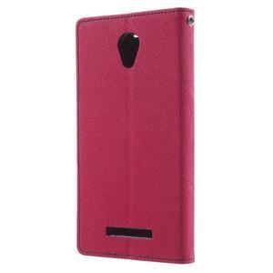 Goos PU kožené pouzdro na Xiaomi Redmi Note 2 - rose - 2