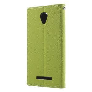 Goos PU kožené pouzdro na Xiaomi Redmi Note 2 - zelené - 2