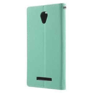 Goos PU kožené pouzdro na Xiaomi Redmi Note 2 - azurové - 2