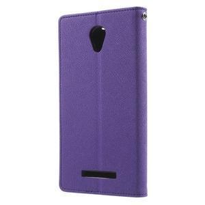 Goos PU kožené pouzdro na Xiaomi Redmi Note 2 - fialové - 2