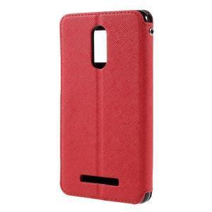 Diary pouzdro s okýnkem na mobil Xiaomi Redmi Note 3  - červené - 2
