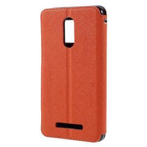Diary pouzdro s okýnkem na mobil Xiaomi Redmi Note 3  - oranžové - 2