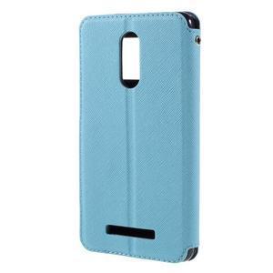 Diary pouzdro s okýnkem na mobil Xiaomi Redmi Note 3  - světlemodré - 2