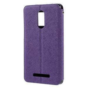 Diary pouzdro s okýnkem na mobil Xiaomi Redmi Note 3  - fialové - 2