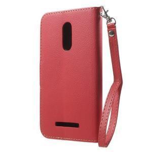 Leaf peněženkové pouzdro na Xiaomi Redmi Note 3 - červené - 2