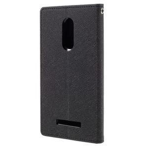Wallet PU kožené pouzdra na Xiaomi Redmi Note 3 - černé - 2