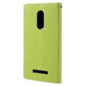 Wallet PU kožené pouzdra na Xiaomi Redmi Note 3 - zelené - 2