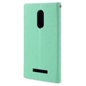 Wallet PU kožené pouzdra na Xiaomi Redmi Note 3 - azurové - 2