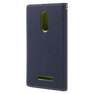 Wallet PU kožené pouzdra na Xiaomi Redmi Note 3 - tmavěmodré - 2
