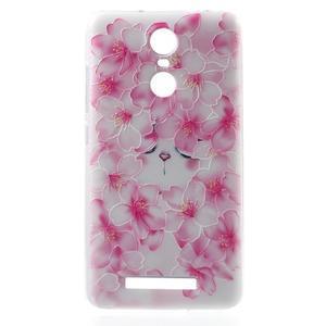 Softy gelový obal na Xiaomi Redmi Note 3 - květy švestky - 2