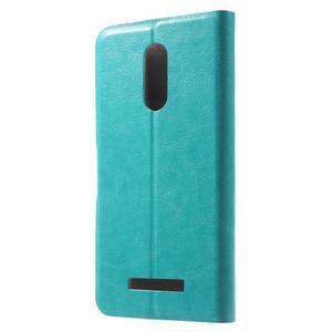 Horse PU kožené pouzdro na Xiaomi Redmi Note 3 - modré - 2