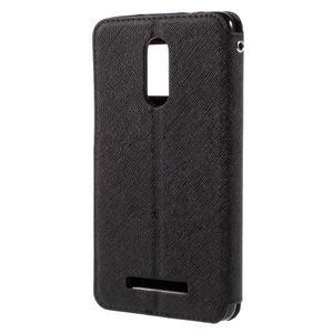 Diary pouzdro s okýnkem na mobil Xiaomi Redmi Note 3  - černé - 2