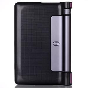 Polohovatelnotelné PU kožené pouzdro na Lenovo Yoga Tab 3 8.0 - fialové - 2