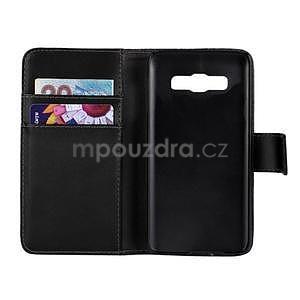 PU kožené pouzdro na Samsung Galaxy A3 - černé - 2