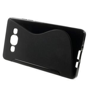 Gelové s-line pouzdro na Samsung Galaxy A3 - černé - 2
