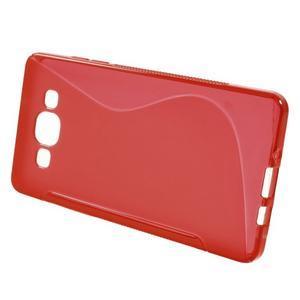 Gelové s-line pouzdro na Samsung Galaxy A3 - červená - 2