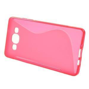 Gelové s-line pouzdro na Samsung Galaxy A3 - růžová - 2