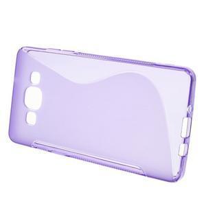 Gelové s-line pouzdro na Samsung Galaxy A3 - fialová - 2